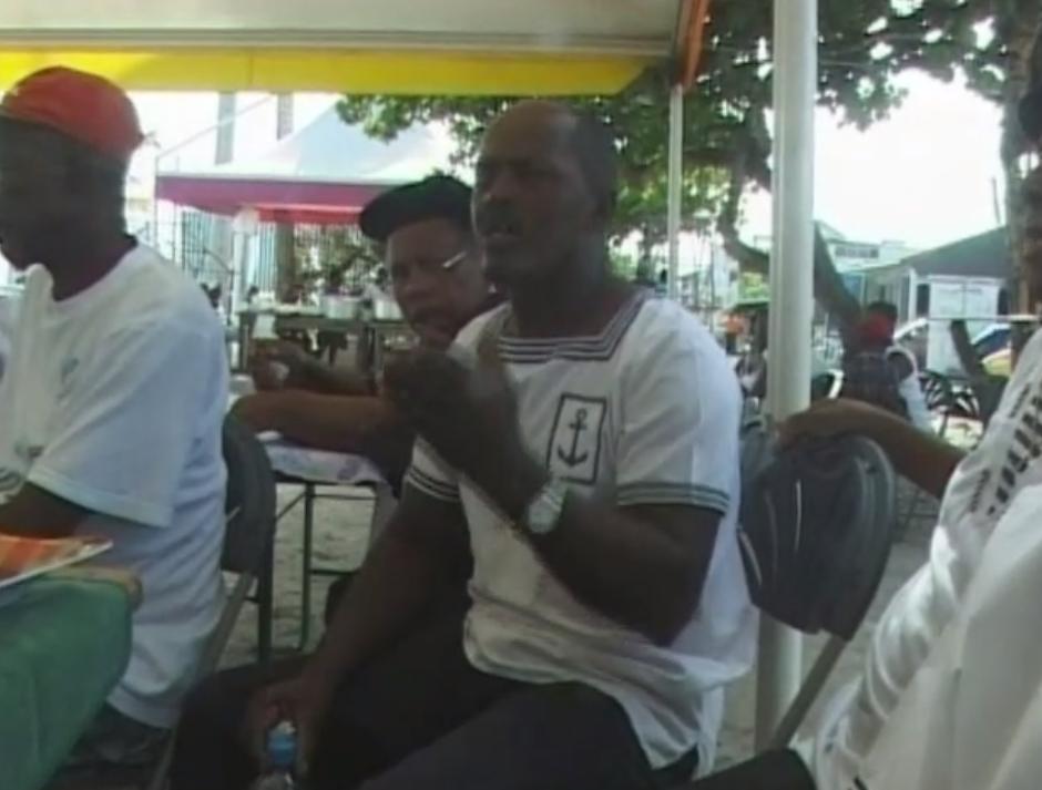 Chants à la fête des marins de l'île de La Désirade, Guadeloupe, 2009